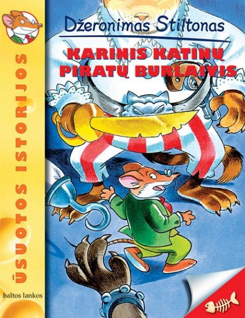 Karinis katinų piratų burlaivis paveikslėlis