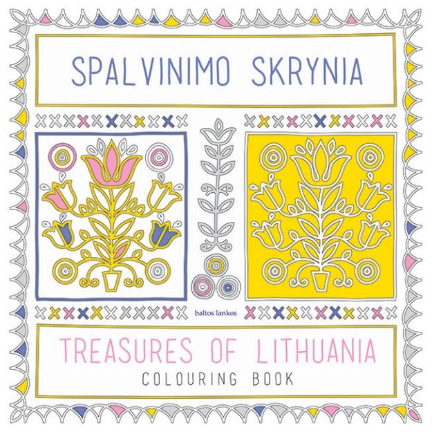 Spalvinimo skrynia. Treasures of Lithuania. Colouring book. paveikslėlis