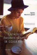 Laimingi žmonės skaito ir geria kavą paveikslėlis