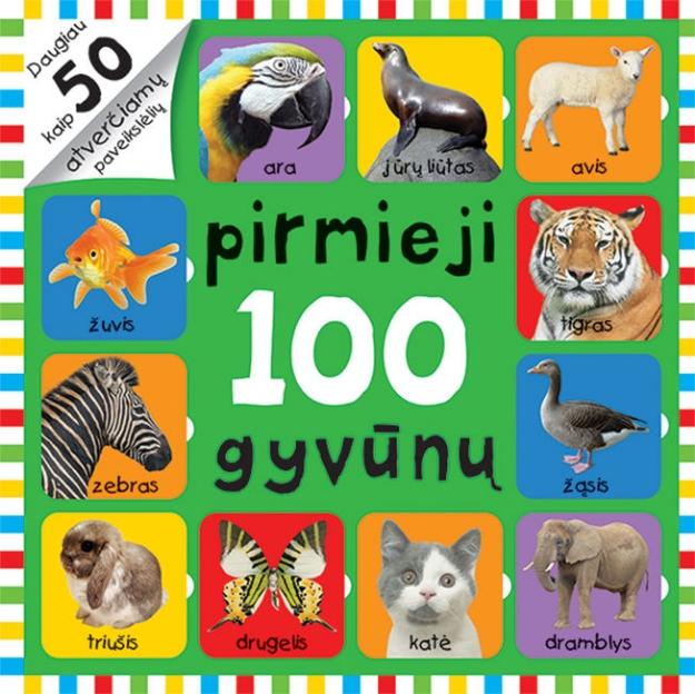 Atversk paveikslėlius. Pirmieji 100 gyvūnų paveikslėlis