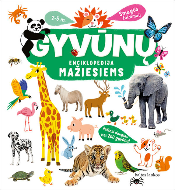Gyvūnų enciklopedija mažiesiems paveikslėlis