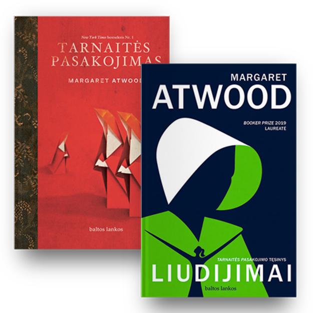 Margaret Atwood 2 knygų rinkinys: Tarnaitės pasakojimas + Liudijimai paveikslėlis